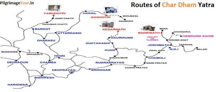 Char Dham Yatra - Chardham Route