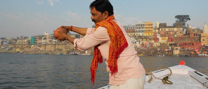 Asthi Visarjan in Varanasi